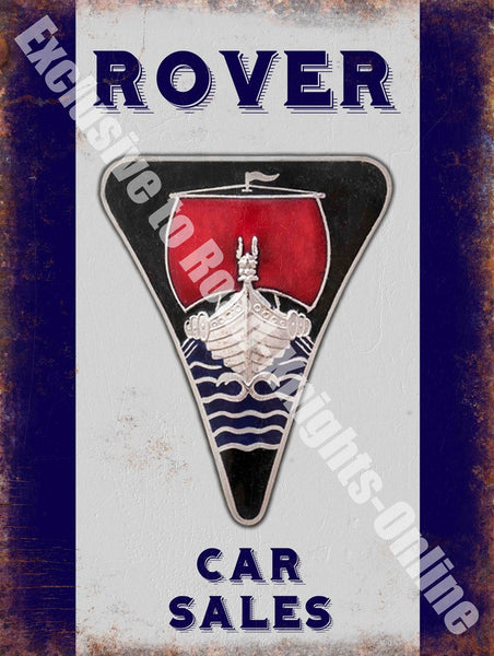 rover-badge-old-logo-car-sales-vintage-garage-advert-metal-steel-wall-sign
