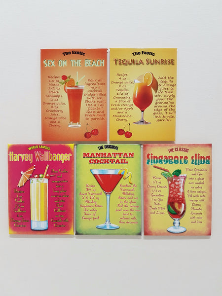 80s-cocktail-drink-recipes-tiki-bar-kitchen-pub-novelty-fridge-magnet-gift-set