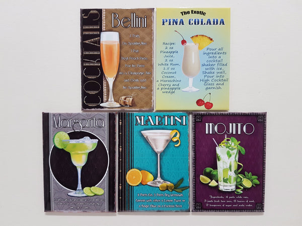 art-deco-cocktail-recipes-tiki-bar-kitchen-pub-novelty-fridge-magnet-gift-set-1