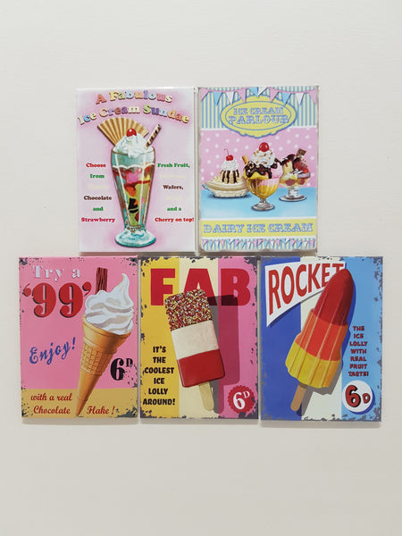 ice-cream-seaside-retro-kitchen-cafe-lolly-desert-novelty-fridge-magnet-gift-set