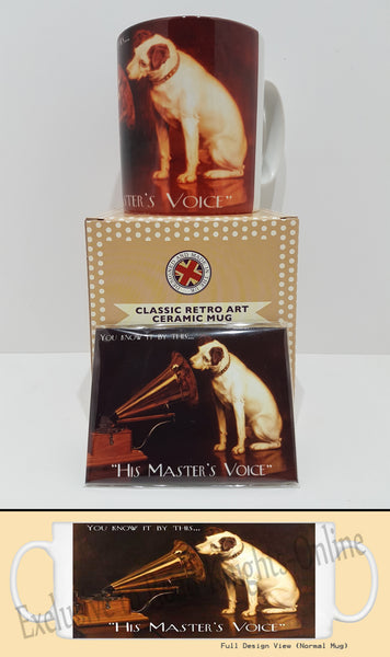 hmv-gramophone-dog-music-pub-masters-voice-tea-coffee-mug-magnet-gift-set
