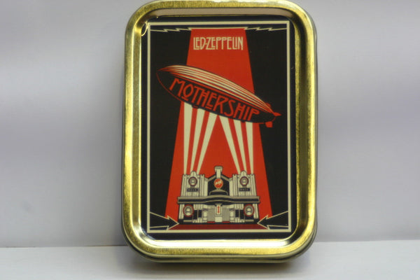 led-zeppelin-mothership-album-cover-best-of-greatest-hits-zephyr-beresford-hotel-glasgow-classic-british-rock-band-jimmy-page-robert-plant-john-paul-jones-and-john-bonham-london-gold-sealed-lid-2oz-tobacco-storage-tin