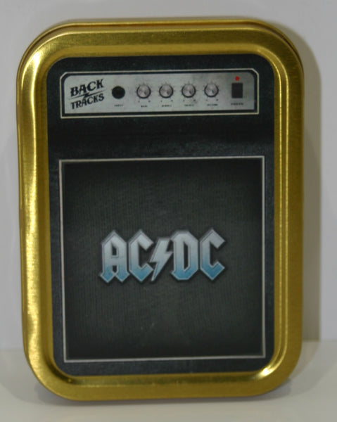 ac-dc-logo-on-guitar-amplifier-classic-rock-band-from-australia-for-tobacco-cigarettes-or-bits-and-bobs-gold-sealed-lid-2oz-tobacco-storage-tin