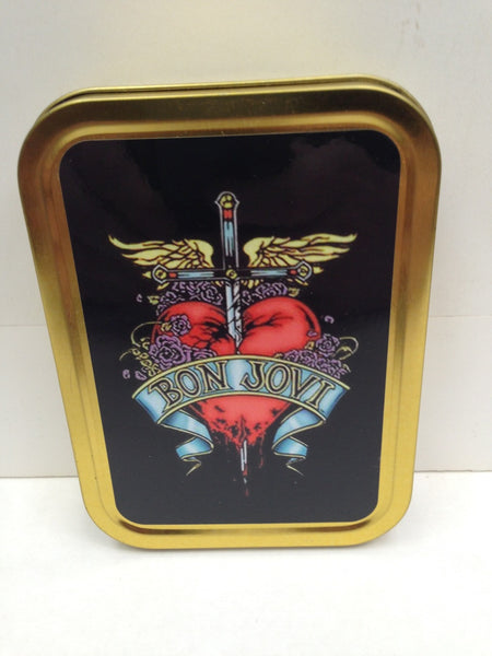 bon-jovi-sword-in-heart-80s-90s-glam-metal-poodle-rock-gold-sealed-lid-2oz-tobacco-storage-tin