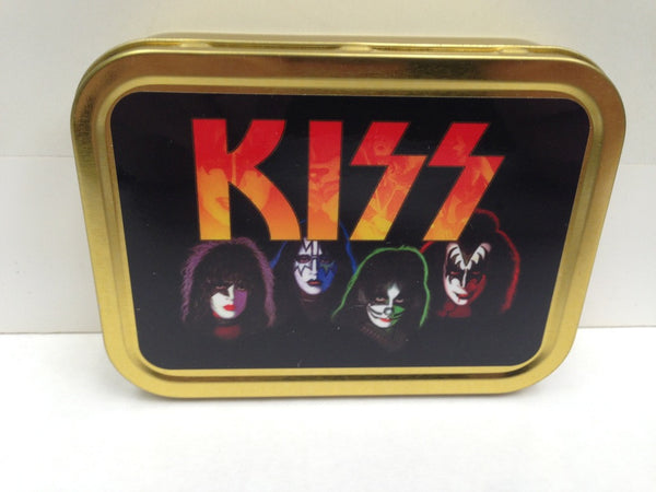 kiss-band-with-iconic-comic-book-face-paint-and-kiss-logo-self-proclaimed-greatest-rock-band-classic-us-rock-band-glam-heavy-detroit-rock-city-gold-sealed-lid-2oz-tobacco-storage-tin