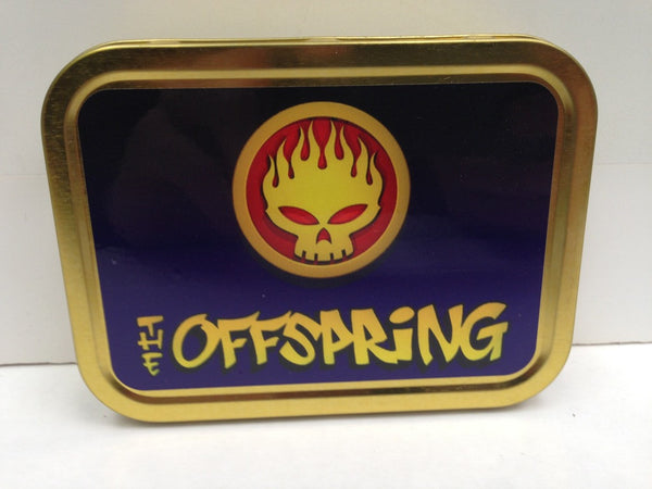 the-offspring-flaming-skull-us-pop-punk-skate-conspiracy-of-one-gold-sealed-lid-2oz-tobacco-storage-tin