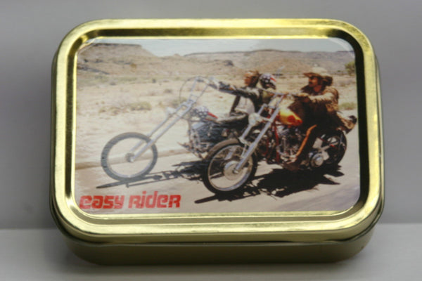 easy-rider-born-to-be-wild-peter-fonda-dennis-hopper-jack-nicholson-motor-bikes-classic-film-counterculture-choppers-road-trip-gold-sealed-lid-2oz-tobacco-storage-tin