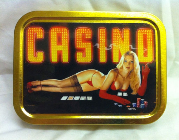 casino-smoking-girl-in-red-underwear-cards-and-chips-poker-texas-hold-em-gambling-bikini-suspenders-gloves-gold-sealed-lid-2oz-tobacco-storage-tin