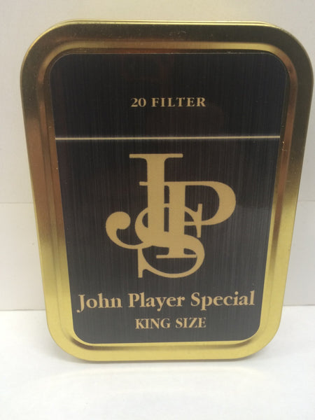 john-player-special-advertising-brand-cigarette-old-retro-vintage-packet-design-black-and-gold-jps-king-size-gold-sealed-lid-2oz-tobacco-storage-tin