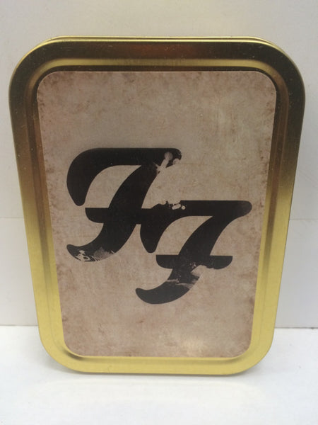 foo-fighters-rock-band-music-record-cigarette-ff-logo-distressed-design-american-there-is-nothing-left-to-lose-gold-sealed-lid-2oz-tobacco-storage-tin