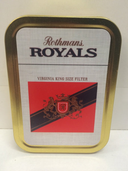 rothmans-royals-retro-advertising-brand-cigarette-virginia-king-size-red-and-blue-old-retro-vintage-packet-design-gold-sealed-lid-2oz-tobacco-storage-tin