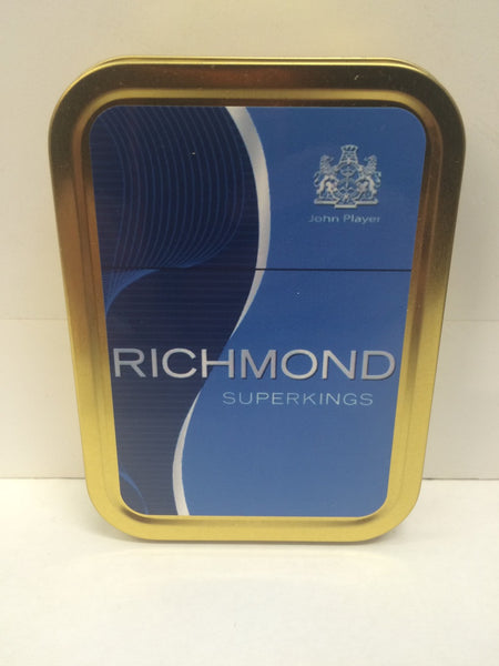 richmond-superkings-advertising-brand-cigarette-john-player-old-retro-vintage-packet-design-gold-sealed-lid-2oz-tobacco-storage-tin
