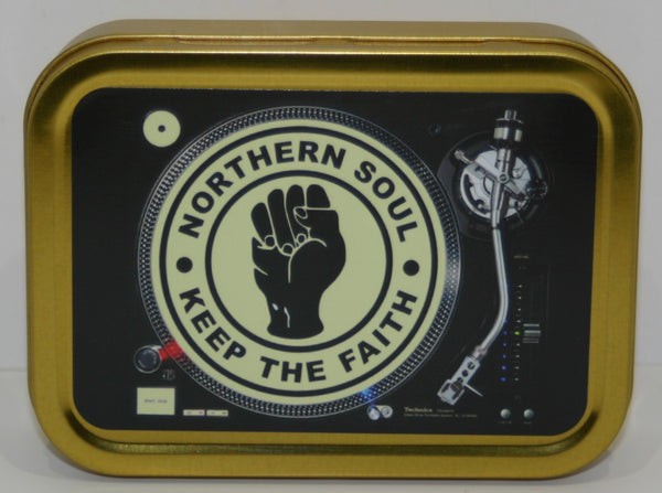 northern-soul-keep-the-faith-dj-decks-turntable-fist-silver-hinged-lid-2oz-tobacco-storage-tin