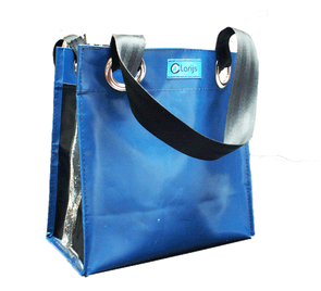 City shopper recycled blue