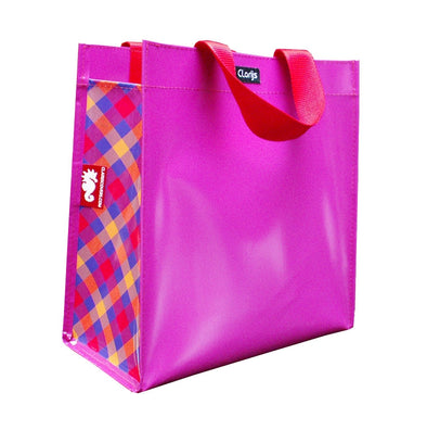 Shopper tartan orange