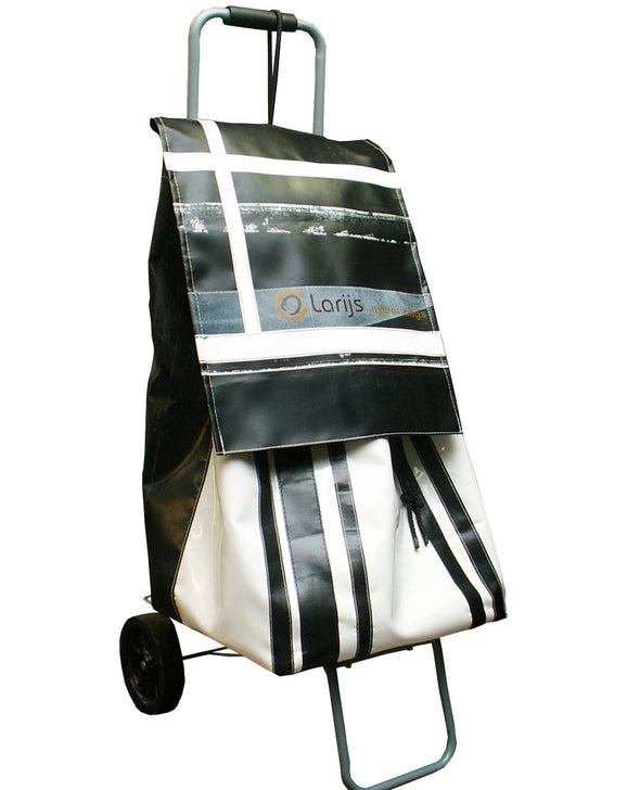 Trolley recycled zwart/wit