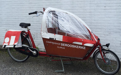 Cargobike recycled cabrio tent kort