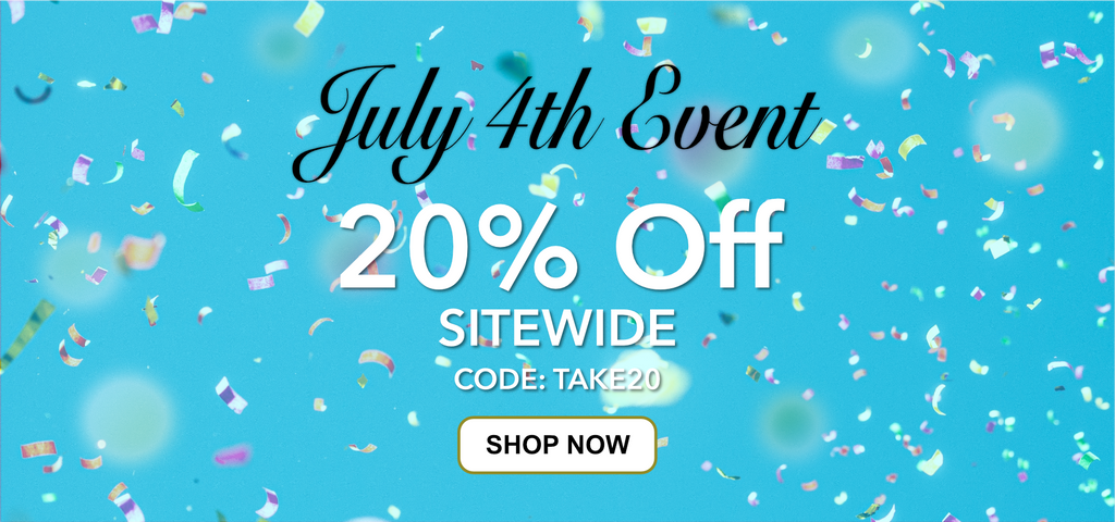 4th of July Sale 20 percent off with code Take20