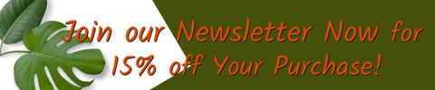 Join Newsletter for 15 Percent Off Your Purchase