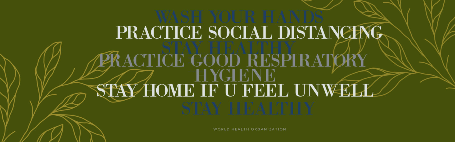 Covid-19 Response Image Wash Hands Stay Healthy and Safe