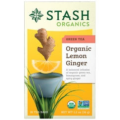Org Lemon Ginger Green Tea - REVIVIFY