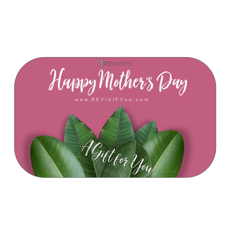 Mother's Day Gift Card Pink Background - REVIVIFY