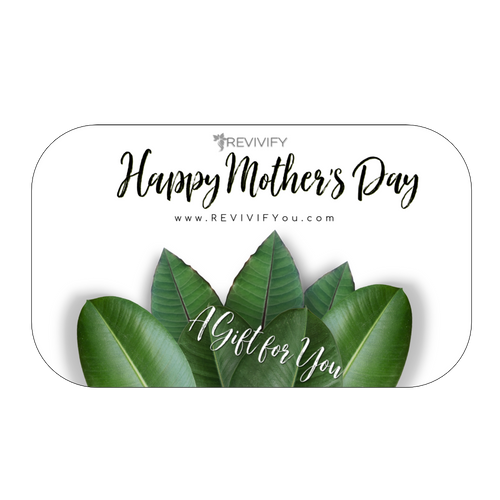 Happy Mother's Day Gift Card  - White Background - REVIVIFY
