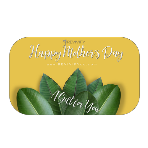 Mother's Day Gift Card - Gold Background - REVIVIFY