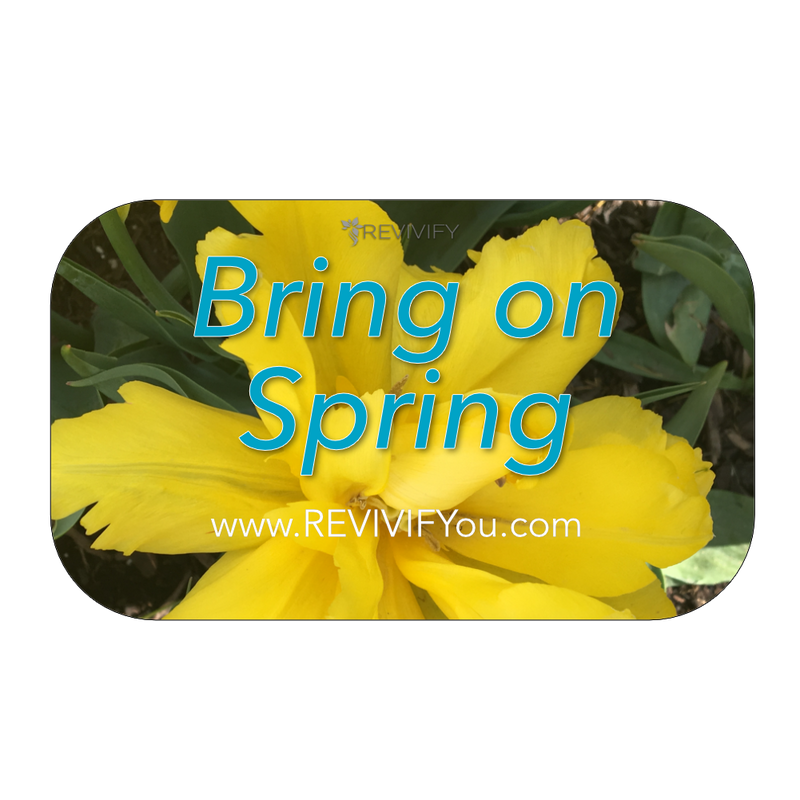 Spring Gift Card - Blue - REVIVIFY