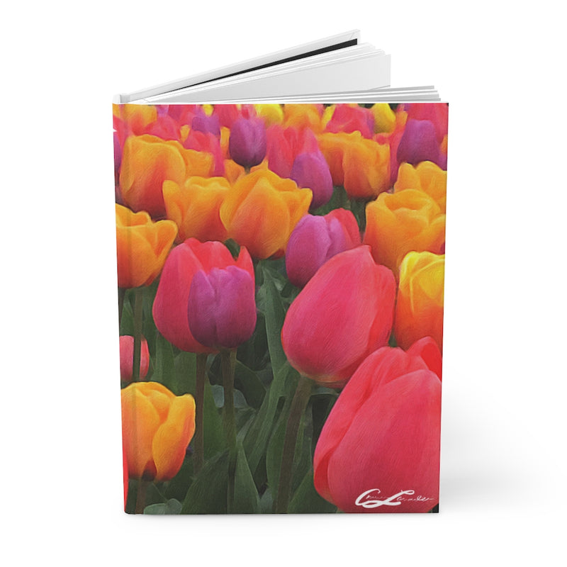 Colorful Tulips -  Hardcover Journal Matte