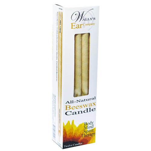 Wally's Ear Candles 100% Beeswax Unscented Candles -12 ct - REVIVIFY