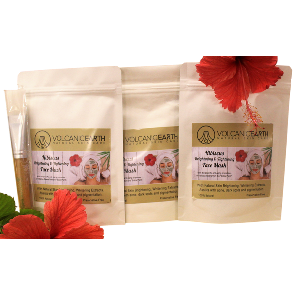 Hibiscus Face Mask - Triple Pack