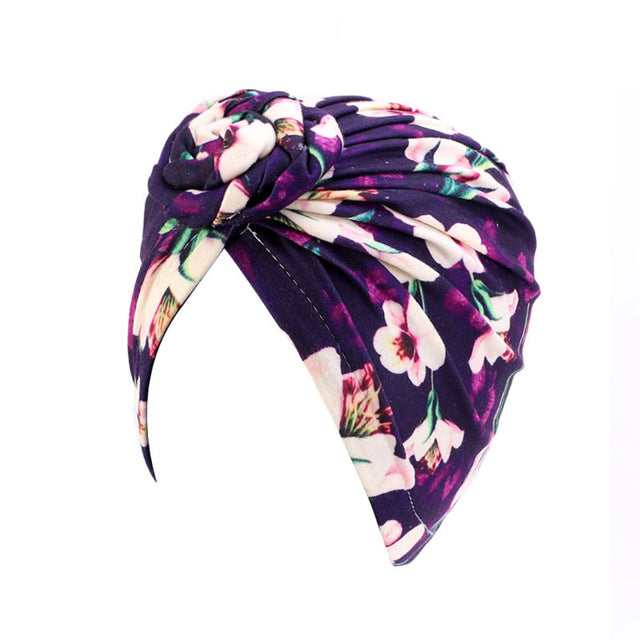Knotted Print Turban - REVIVIFY