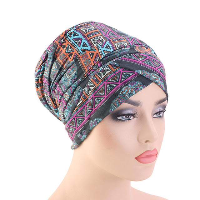Extra Long Printed Head Wrap - REVIVIFY