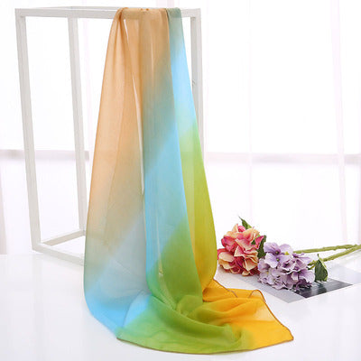 Gradient color square scarf - REVIVIFY