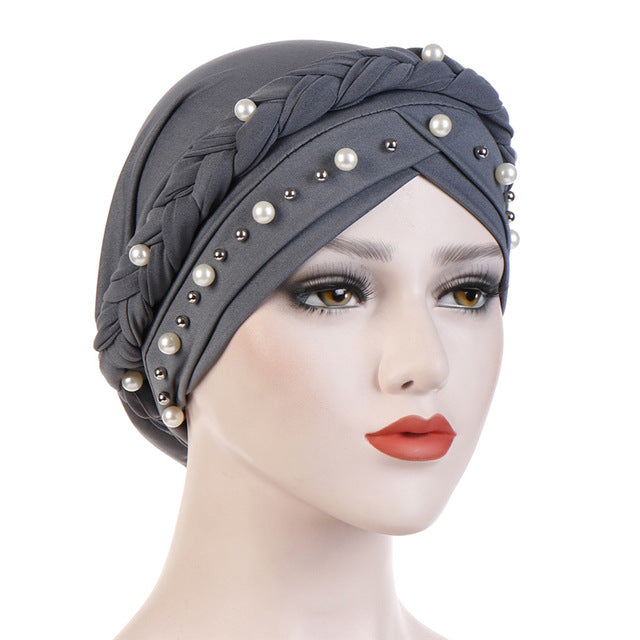 Printed Braided Style Turban - REVIVIFY