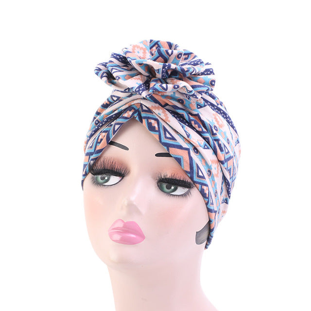 African Print Stretch Cotton Headband - REVIVIFY