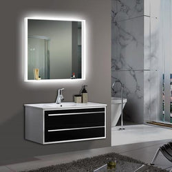 Square All Around LED Wall Mounted Lighted Vanity & Makeup Mirror