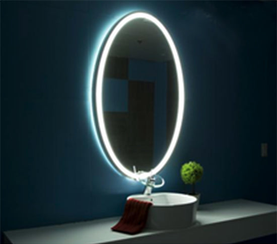 Oval LED Lighted Vanity & Makeup Mirror