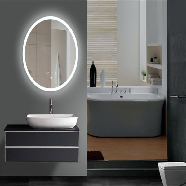 Ring Light Mirror - Oval LED Lighted Vanity & Makeup Mirror