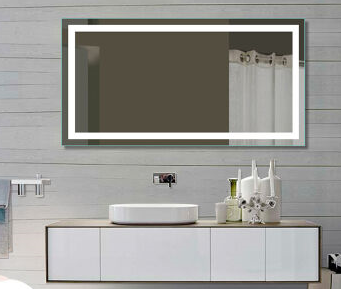 Rectangular All Around LED LED Wall Mounted Lighted Vanity & Makeup Mirror