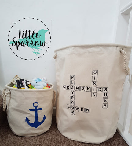 Personalised Scrabble -Heavy Canvas Storage Bags