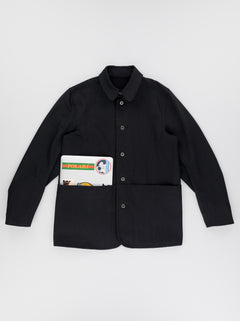 UNISEX PAINTER JACKET - BLACK SELVEDGE.