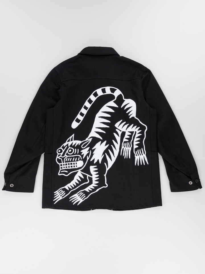 ULLAC x TATTOOS FOR YOUR ENEMIES COLLAB PAINTER SUIT. BLACK TIGER.