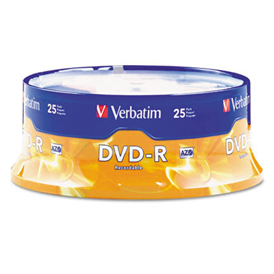 Dvd-R Discs, 4.7gb, 16x, Spindle, Matte Silver, 25/pack