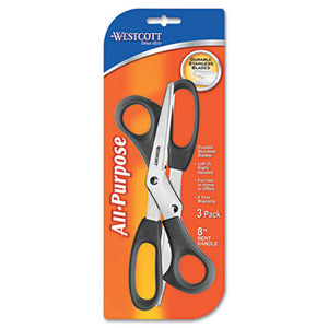 "Value Line Stainless Steel Shears, 8"" Long, 3/pack"