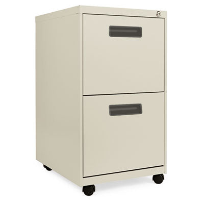 Two-Drawer Metal Pedestal File, 14 7/8w X 19-1/8d X 27-3/4h, Putty
