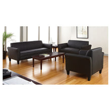 Load image into Gallery viewer, Alera Reception Lounge Furniture, 3-Cushion Sofa, 77w X 31-1/2d X 32h, Black