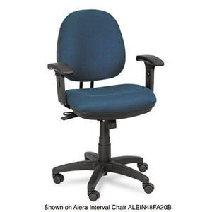 Alera Height Adjustable T-Arms, Interval & Essentia Series Chairs/stools, Black
