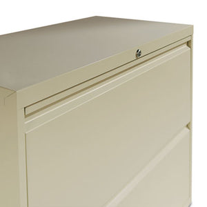 TWO-DRAWER LATERAL FILE CABINET, 42W X 18D X 28H, PUTTY